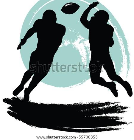 football players - stock vector