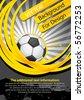 Football poster (background for design) - stock vector