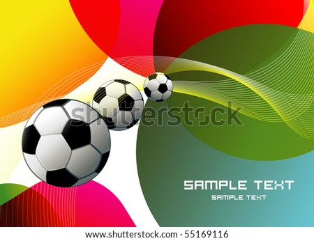 Football poster  eps10 - stock vector