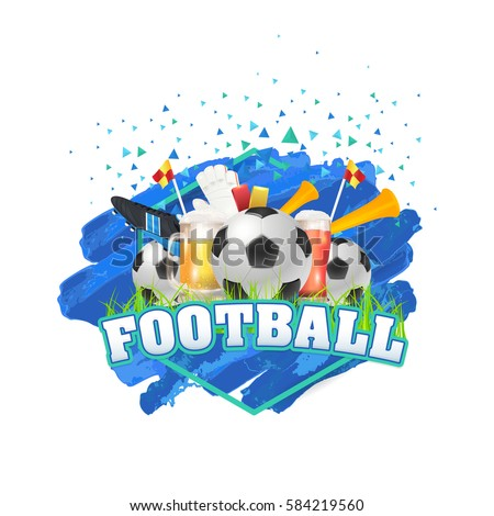 Football Poster Event Info Postcard Design Stock Vector - Event postcard template