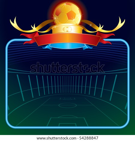 Football poster for your text-vector illustration - stock vector