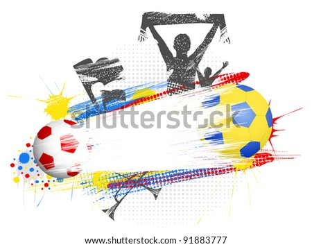 Football poster with space for text - stock vector