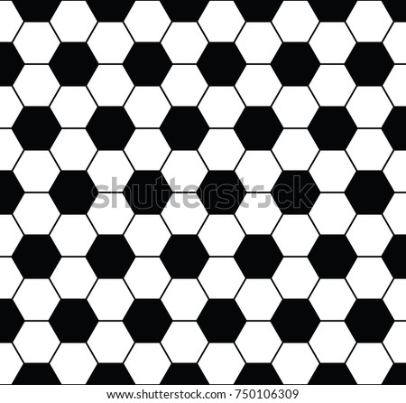 Football Seamless Black White Pattern Background Stock Vector HD ...