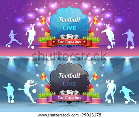 Football Shield Vector Design - stock vector