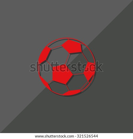 football sign games, web icon. vector design
