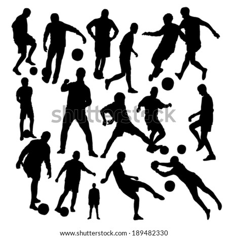 Football Silhouettes Set