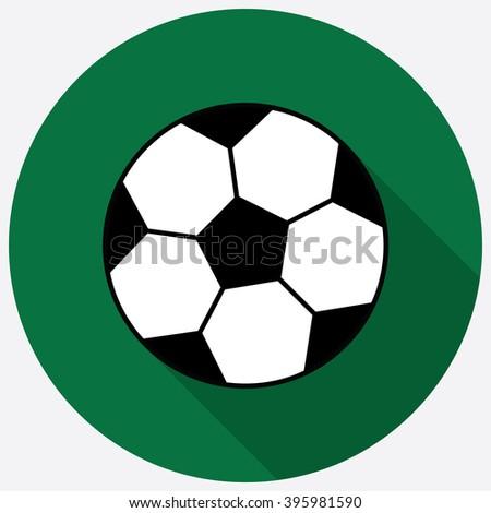 Football soccer ball flat icon. Vector illustration - stock vector