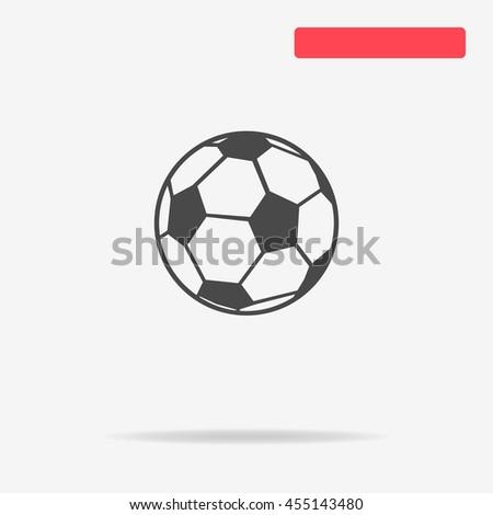 Football soccer ball icon. Vector concept illustration for design. - stock vector