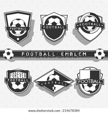 Football/soccer emblem - stock vector