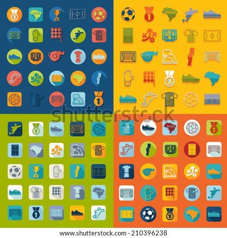 football, soccer infographic - stock vector