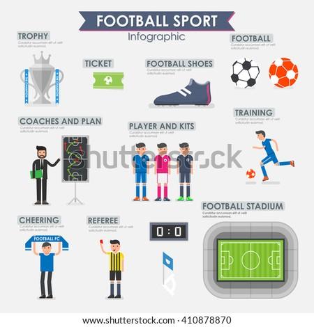 Football, Soccer Infographic. Vector illustration. - stock vector
