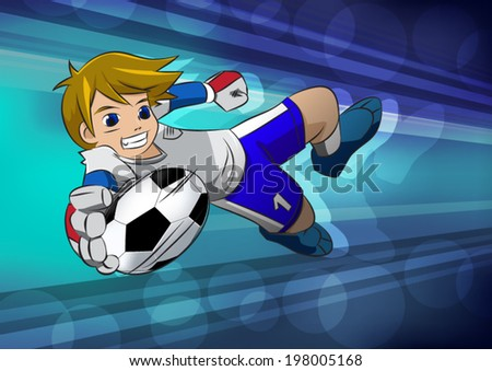 football soccer player goal cartoon