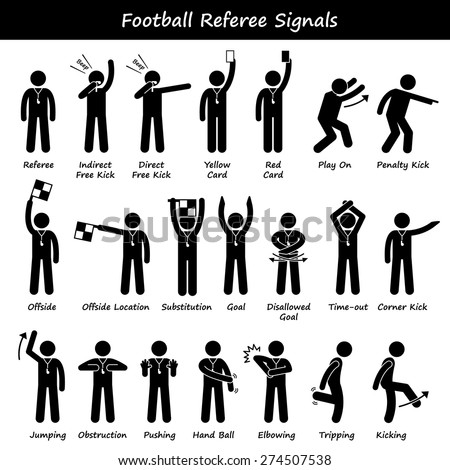 Referee on white board diagram