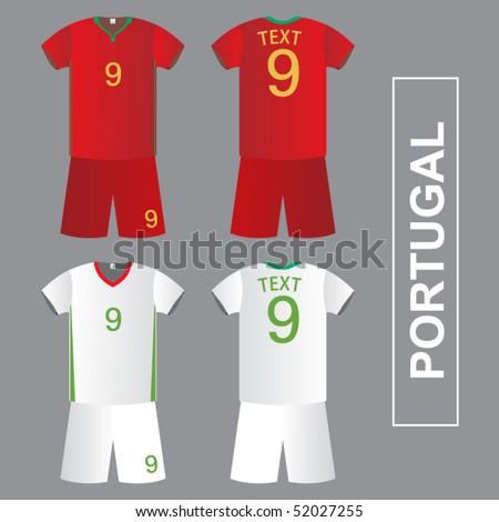 Football (Soccer) Shirt - stock vector