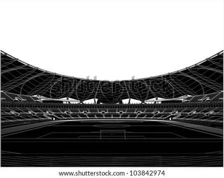 Football Soccer Stadium Vector 17 - stock vector