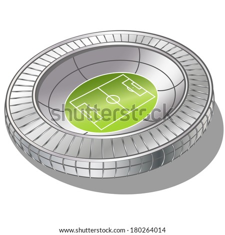 Football Soccer Stadium Vector . gradient mash - stock vector
