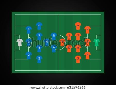 Football soccer starting line 3412 v stock vector 631596266 football soccer starting line up 3 4 1 2 v pronofoot35fo Gallery