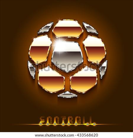 football (soccer) vector gold ball. cover. eps10 - stock vector