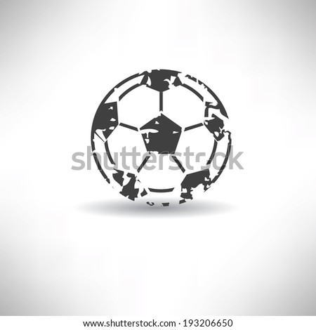Football symbol,grunge vector - stock vector