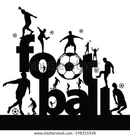 football symbol vector illustration - stock vector
