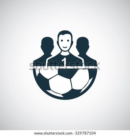 football team icon, on white background  - stock vector