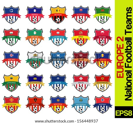 football team labels of european countries