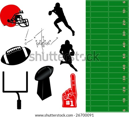 Football Vector Elements - stock vector