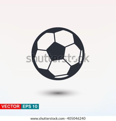 Football vector icon, soccerball - stock vector