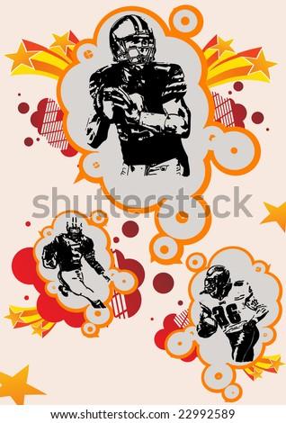 football vector illustration - stock vector
