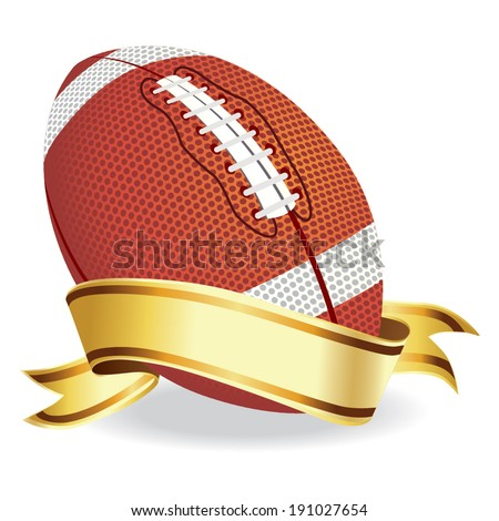 Football with banner vector