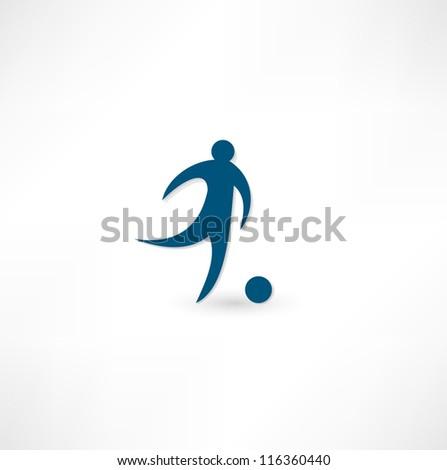 Footballer icon. - stock vector