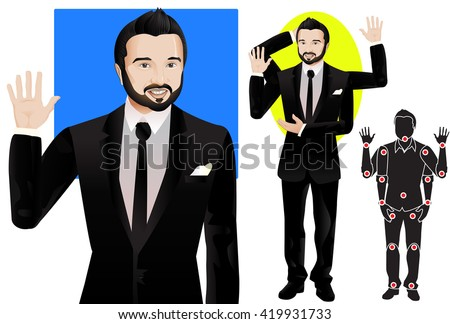 Animation man character formal suit tie stock vector 419931733 for animation man character in formal suit and tie doll with separate joints ccuart Gallery