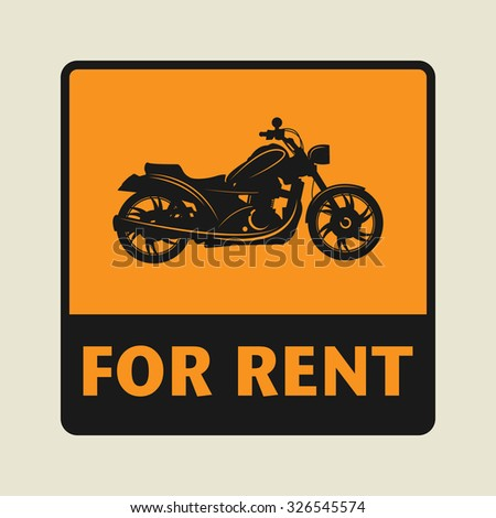 For Rent icon or sign, vector illustration