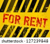 For rent sign, industrial grungy style,vector illustration - stock photo