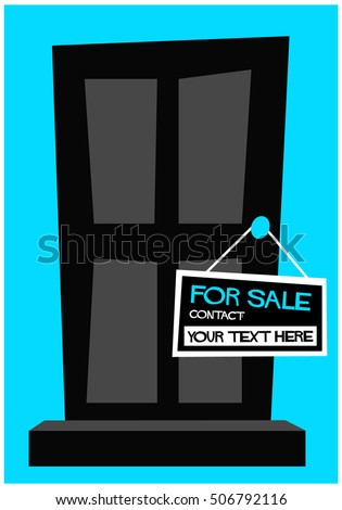 Sale House Contact Details Poster Banner Stock Vector (2018 ... on chart house, icon house, label house,