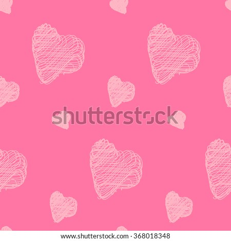 For Valentine's Day February 14 - Valentines heart. Vector seamless pattern for decoration postcards, congratulations, declarations of love, invitations for visits.