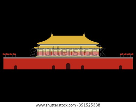 Forbidden City. Gate of Heavenly Peace. Tiananmen Square. Beijing