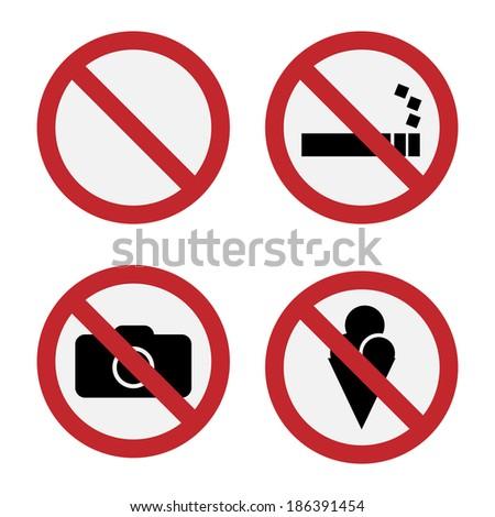 Forbidden Sign Vector - stock vector