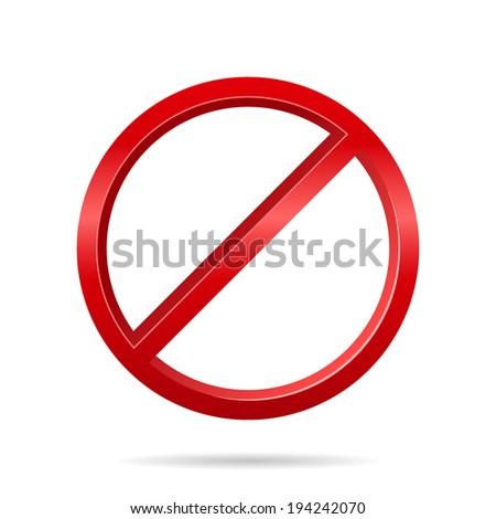 forbidden sign. Vector illustrations - stock vector