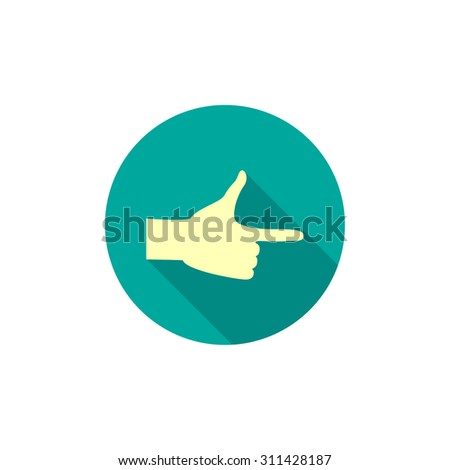 forefinger, web icon. vector design