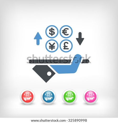 Foreign currency exchange - stock vector