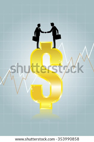 Foreign Exchange Currency-Conceptual illustration of Forex transaction - stock vector
