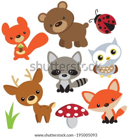 forest animals vector free