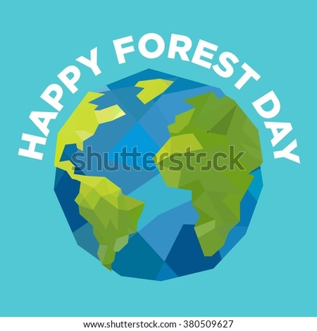Forest Day Poster Vector Template