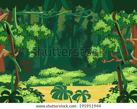 Forest Glade. Beautiful Landscape Background. - stock vector