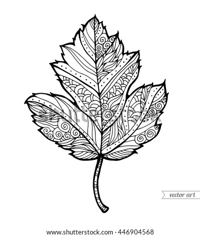 Maple leaf tattoo stock images royalty free images for Maple leaf coloring pages