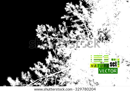 Forest silhouette needles. Vector