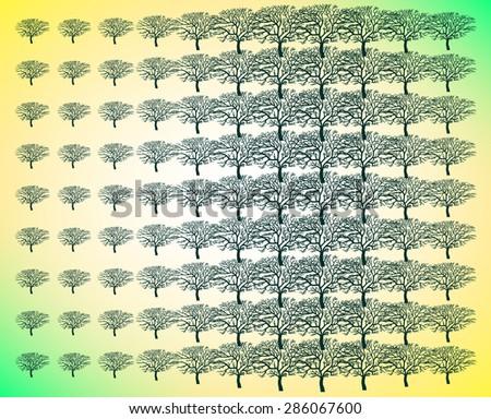 Forest wallpaper - stock vector