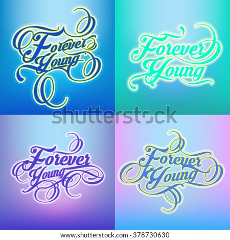 Forever typography design - stock vector