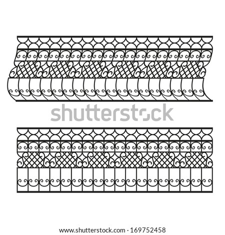 forged handrails - stock vector